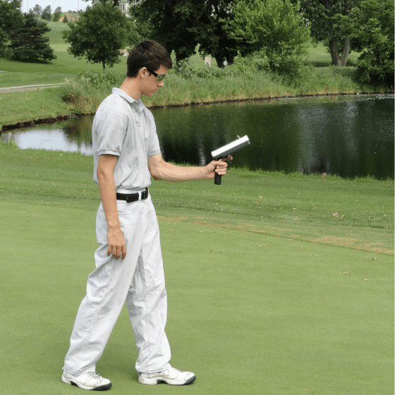 Man on golf course with RapidSCAN CS-45